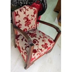 Sillon descalzador clasico tapizado